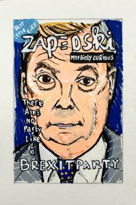 original art under 100 about Nigel Farage and The Brexit Party