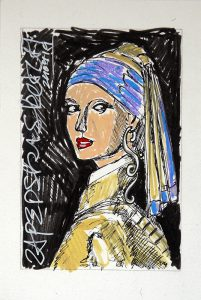 original art under 100 by Zapedski about the girl with the pearl earring